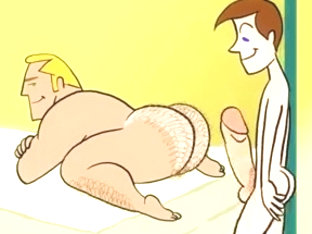 Homosexual Cartoon - Twink acquires Hunky Trainer