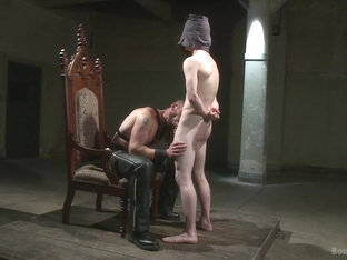 BoundGods : Mr Herst torments and fucks slave 860 locked in chastity