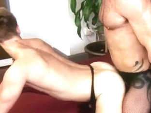 Kinky Gay Couple Likes Wearing Nylons While Fucking