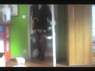 Shemale tranny sounding urethral cock lingerie nylon toy