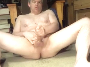 Naked Daddy masturbating