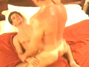 Daddy listens to his muscle sons have sex in the next room