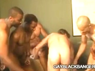 Sexually Concupiscent gay Mark Galftone group-screwed by biggest black jocks
