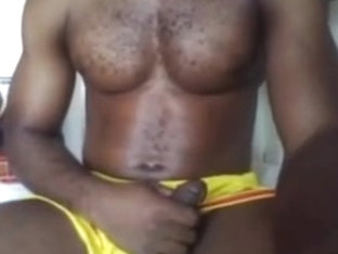 Black handsome boy round bubble smooth ass nice cock on cam