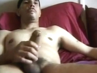 Hot cock stroking and cumming