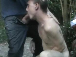 Woods Cumhole - Drilled Raw then three Facual Cumshots