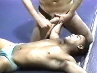 Vintage erotic wrestling