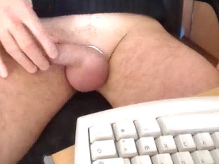Speaking while playing with my cock and big balls