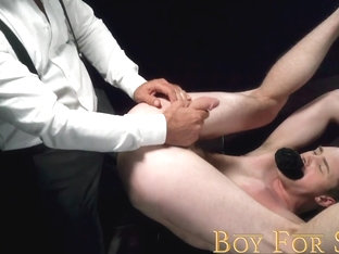 BoyForSale - Jock prostate is pummeled by rough manhandling daddy Dom