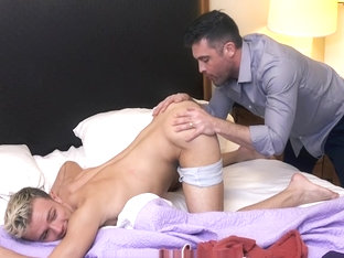 FamilyDick - Sex Hotline StepDaddy Punishes His Boy's Smooth Hole