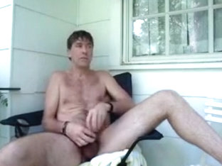 Msssive creamy blast outside while fucking ass