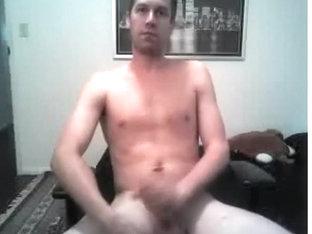 str8 american dude stroking - no spunk fountain