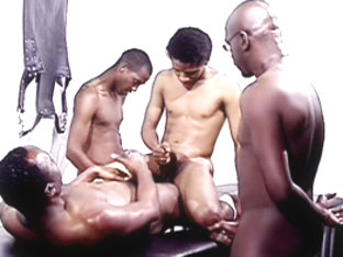 Hot Boi and Mello and Curious  in La gangbangaz scene 4