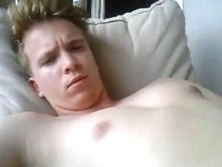 Cute German Boy Cums On His Face   Fingering His Big Ass Too