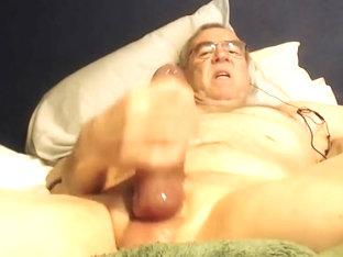 Big cock grandpa stroke on cam 1