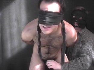 Blindfolded Stud Has Two Fingers Up Ass