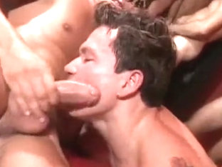 Horny male in hottest group sex gay adult scene