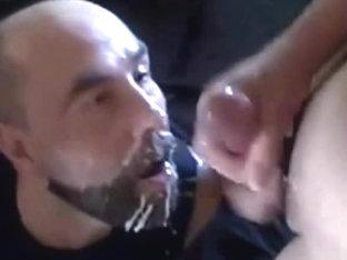 fifty amateurs: getting facual cumshots - eating cum