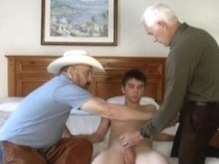 Cowboy, mature boyfrend and youthful boyfrend