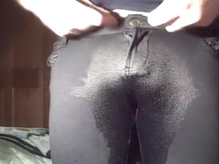 Pissing in my Comfy Tight Black Pants