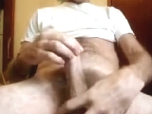 Danrun rips white thick load on his hairy sach
