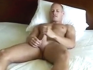 Blonde Jock masturbates for audition