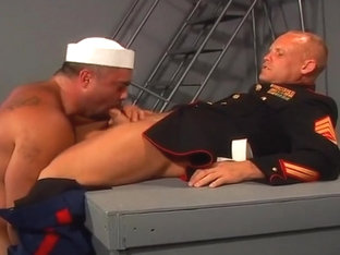 Rough Fucking With Two Hot Navy Guys