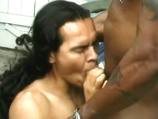 Huge Muscle Bound Stud Throat Fucks A Smaller Cocksucker