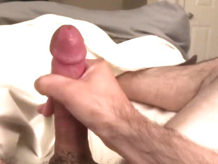 Stroking and teasing with lots of cum