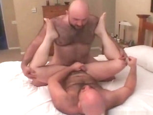 Andrew Mason and Don James spread their legs wide for hot sex