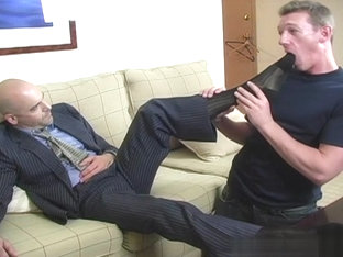 Hot gay foot fetish with cumshot