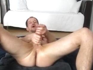 massaging my balls and knob