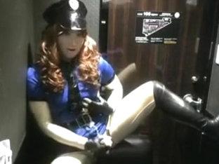 kigurumi female police wanking