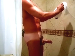 Soaping up my cock in the shower