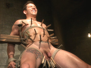 Straight stud gets his ass tormented by a cock for the very first time