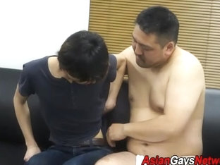 Asian twink cock toyed