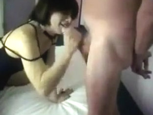 Flat Chested CD IN Nylons Fucked