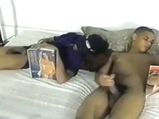 Str8 Black Boys Wank Together