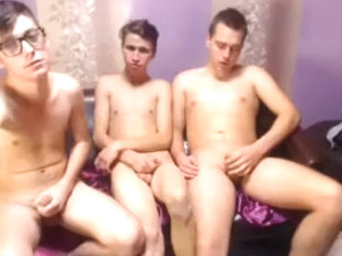 Three Young Gay Boys Are Shown Cam