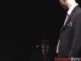 Kinky mormon rides toy