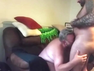 Chubby daddy gets fucked