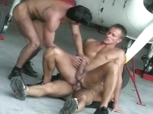 Exotic amateur gay scene with Hunk, Blowjob scenes