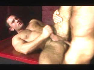 Gay maintenance workers fuck on a job