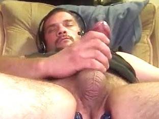 Close up jerking off