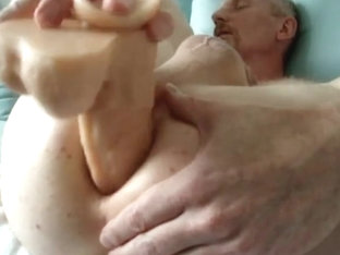 Extreme close-up when my xxl dildo enters my ass!