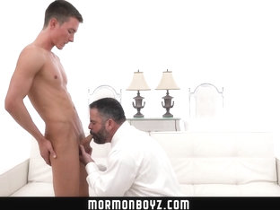 MormonBoyz - Man cums on young studs hole