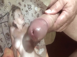 Tribute for cybersim02 - cumshot on tits, body and pussy
