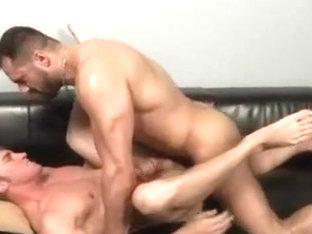 Fucked by his muscular gay masseur