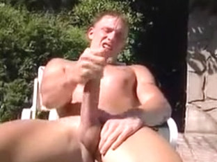 JOe Landon jacks his big cock