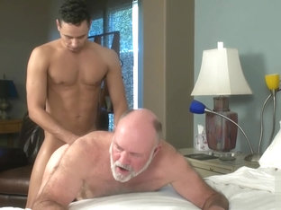 Mighty Fuck -70 year old handsome daddy flip flopping with young Lad